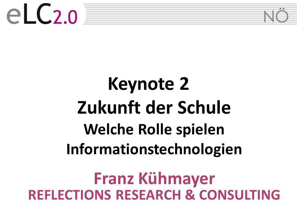 Franz Kühmayer REFLECTIONS RESEARCH & CONSULTING