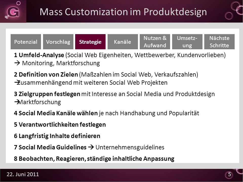 Mass Customization im Produktdesign