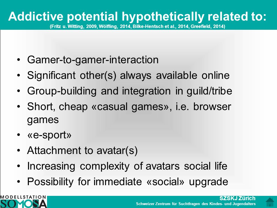 Addictive potential hypothetically related to: (Fritz u