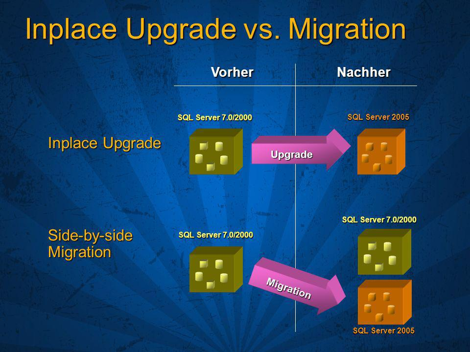Inplace Upgrade vs. Migration