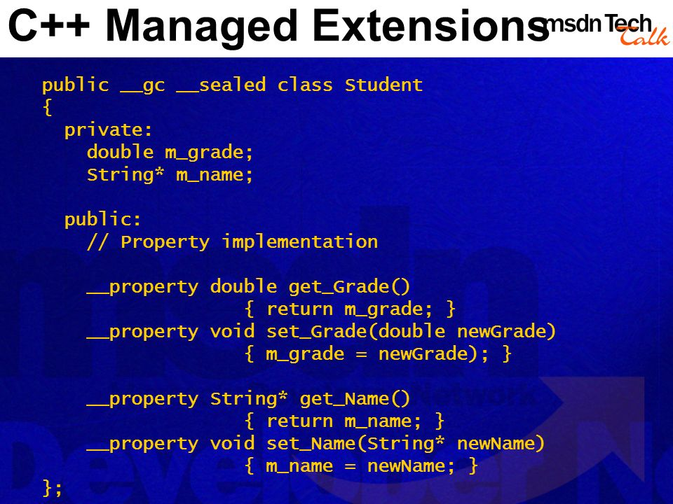 C++ Managed Extensions