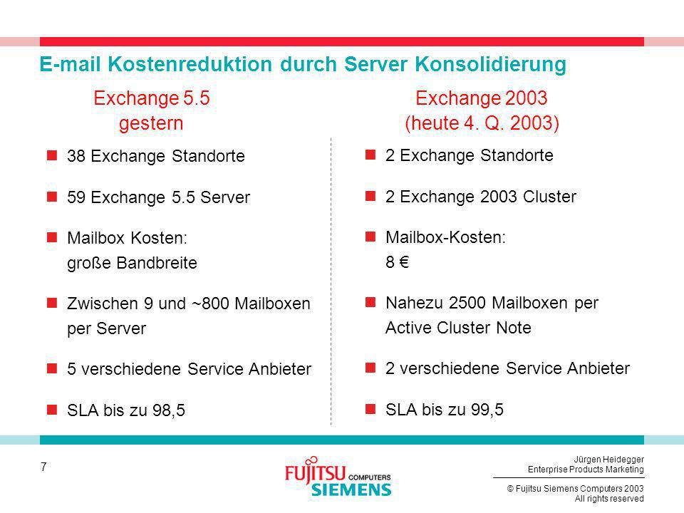 E-mail Kostenreduktion durch Server Konsolidierung