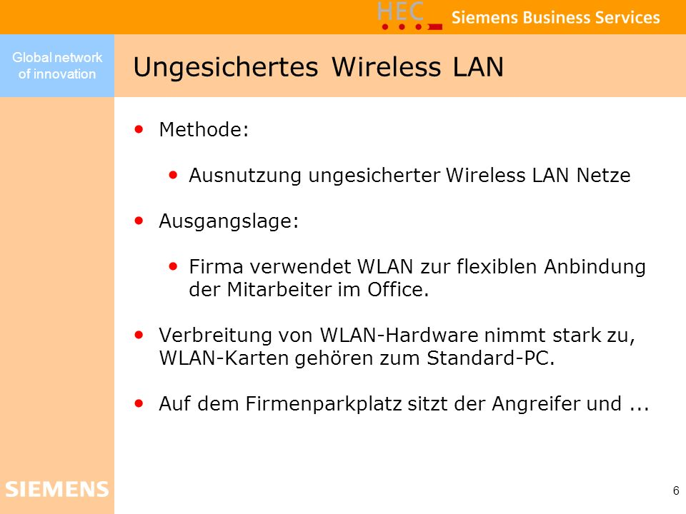 Ungesichertes Wireless LAN