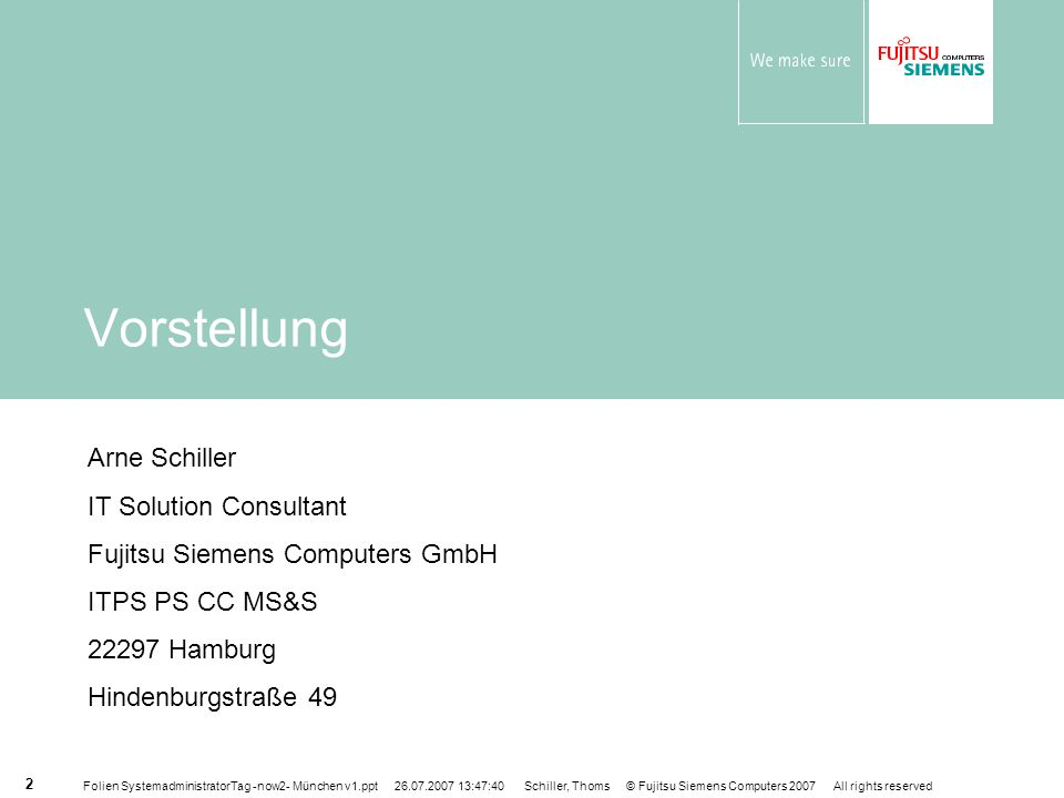 Vorstellung Arne Schiller IT Solution Consultant
