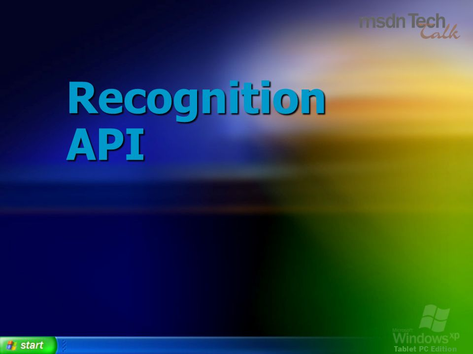 Recognition API