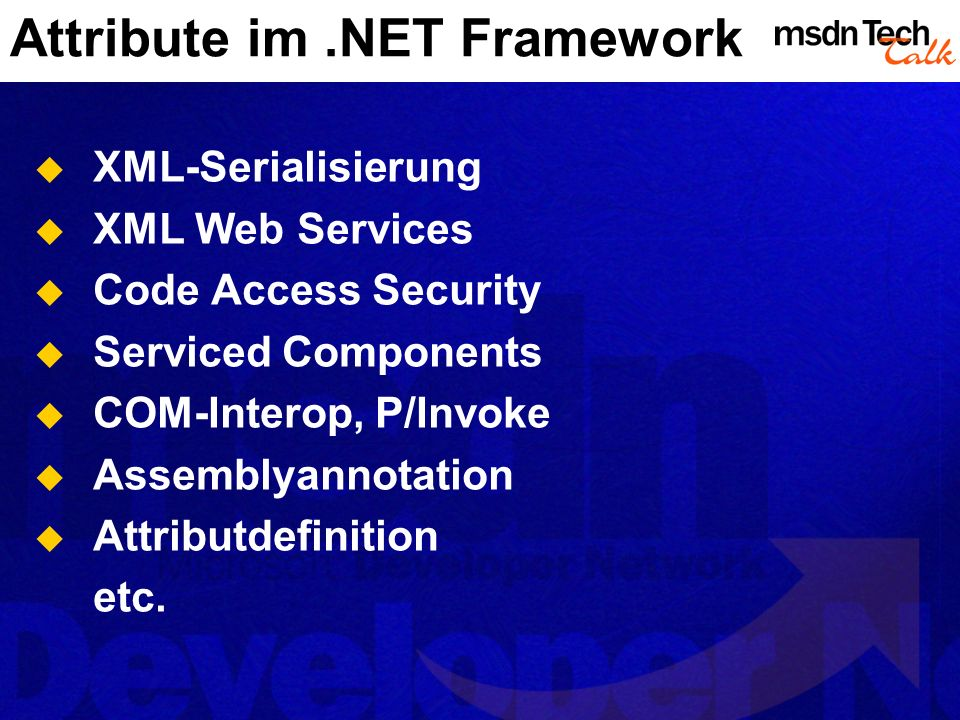 Attribute im .NET Framework