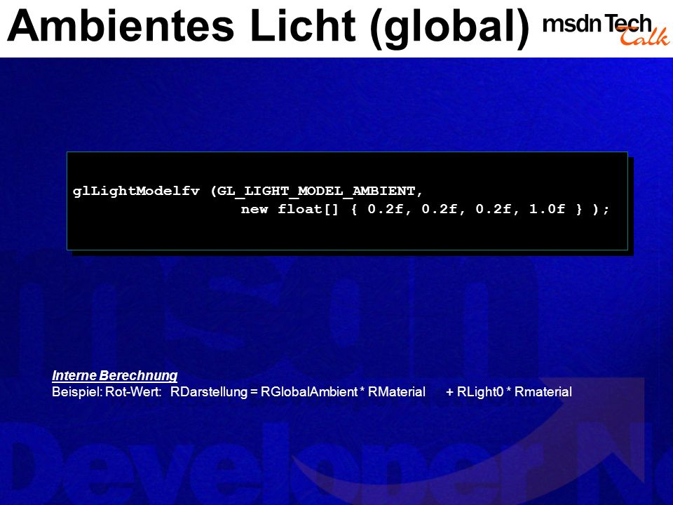 Ambientes Licht (global)