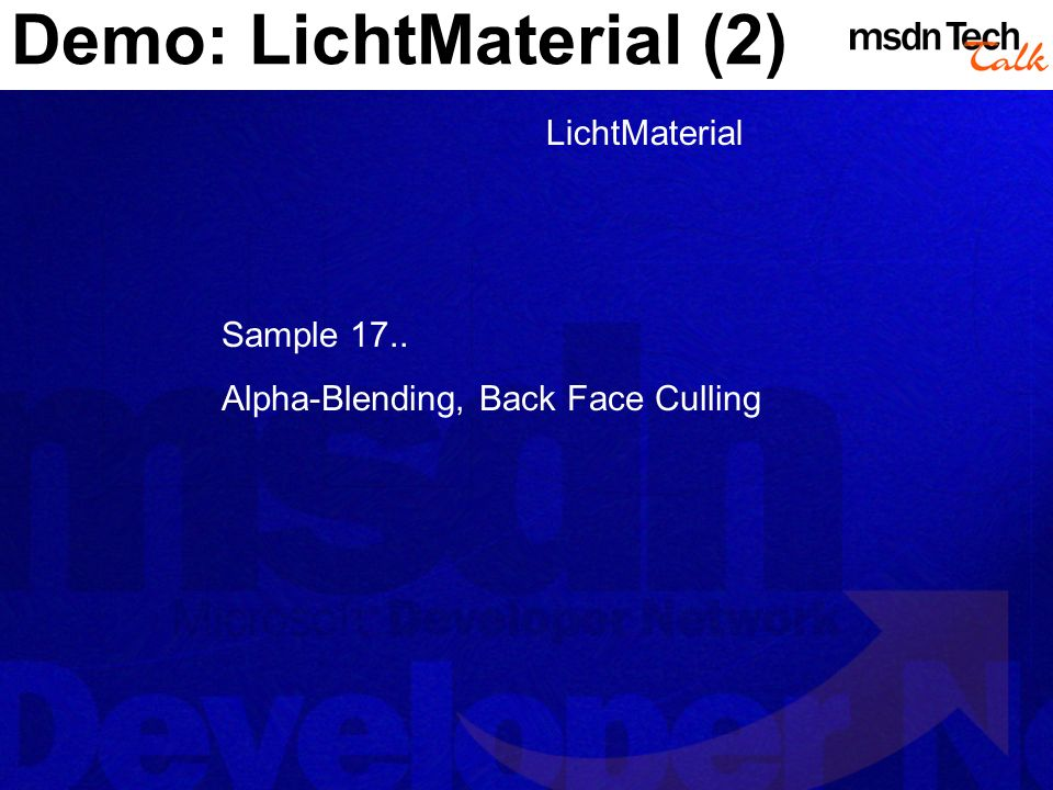 Demo: LichtMaterial (2)
