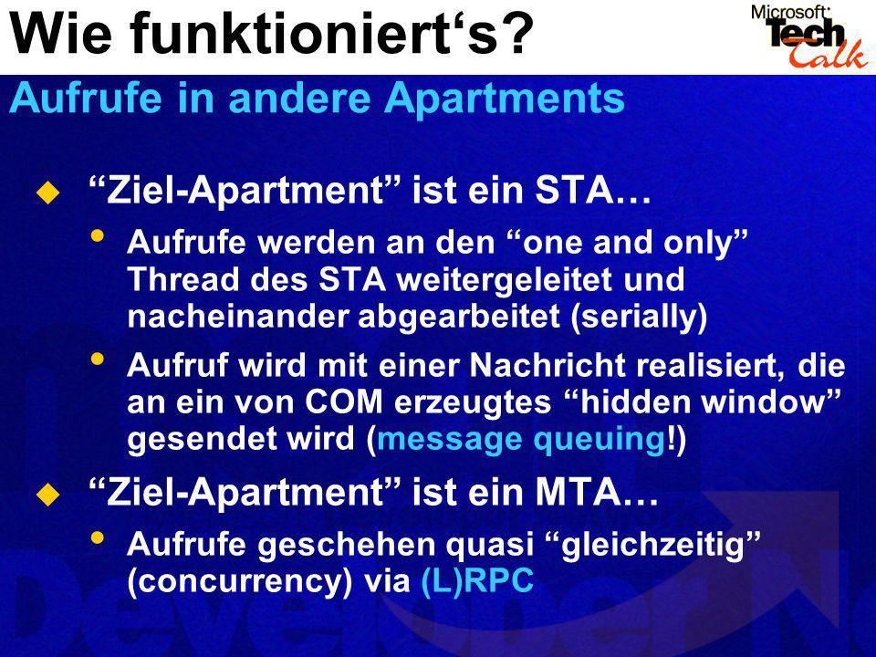 Wie funktioniert's Aufrufe in andere Apartments