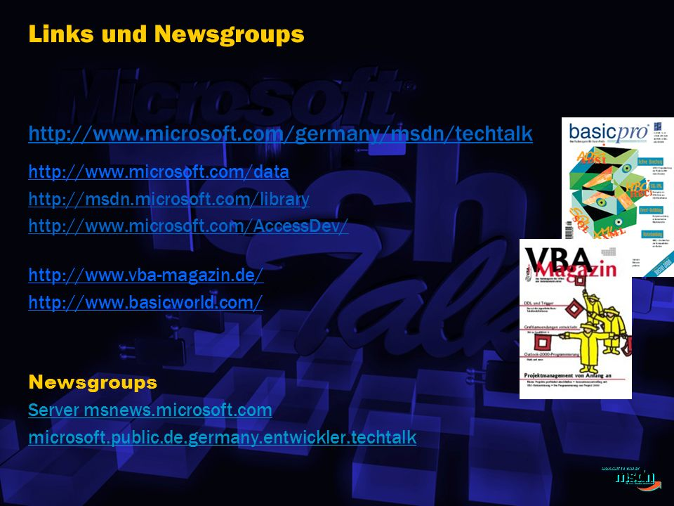 Links und Newsgroups