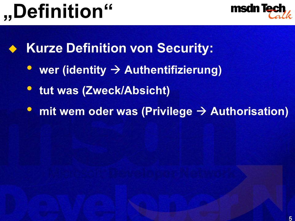 MSDN TechTalk – Januar 2001 COM(+) Security 5