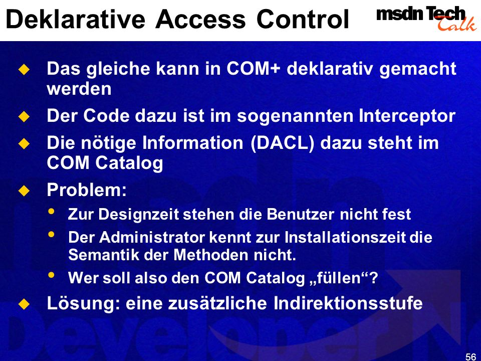 Deklarative Access Control