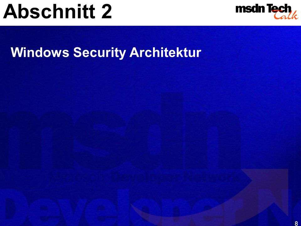 Abschnitt 2 Windows Security Architektur