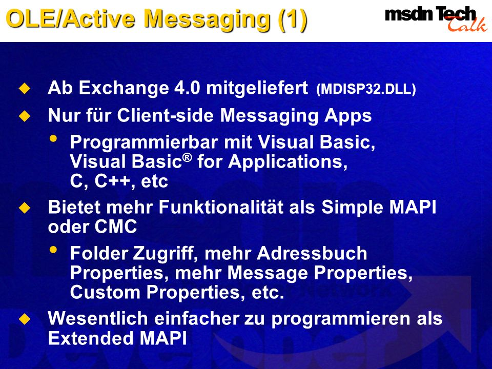 OLE/Active Messaging (1)