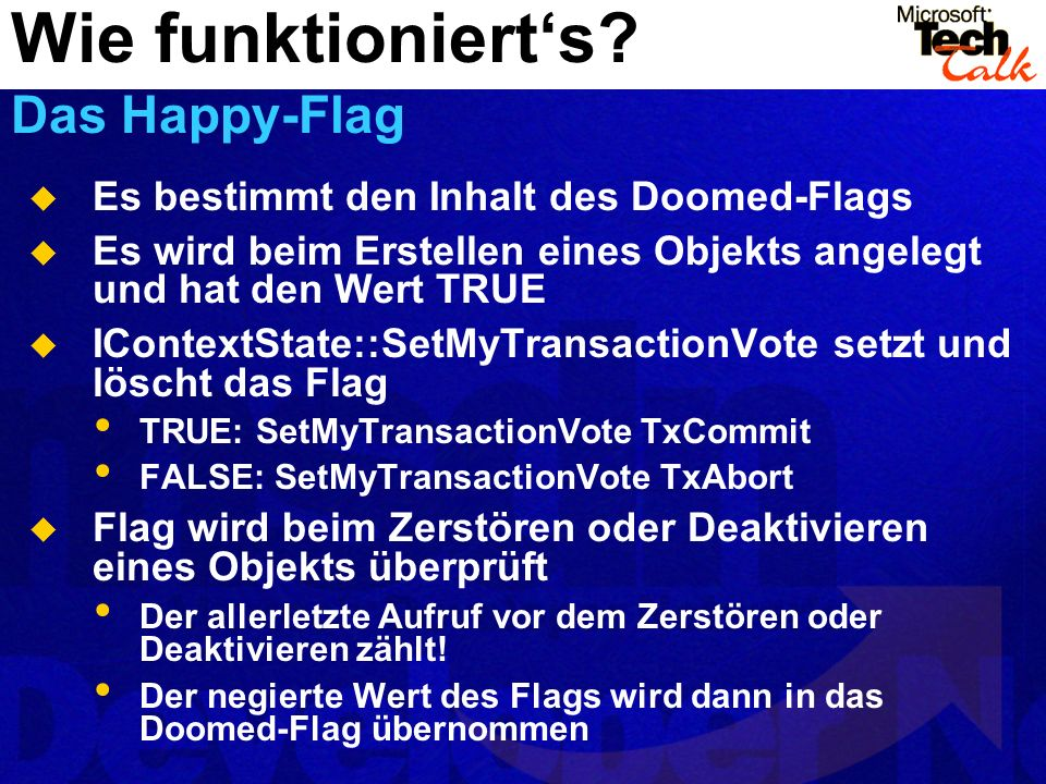 Wie funktioniert's Das Happy-Flag