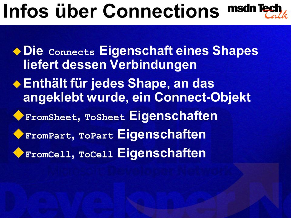 Infos über Connections