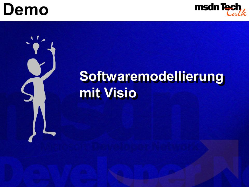 Demo Softwaremodellierung mit Visio