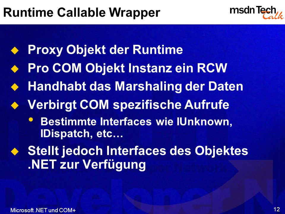 Runtime Callable Wrapper