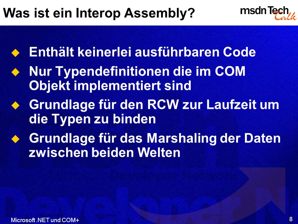 Was ist ein Interop Assembly