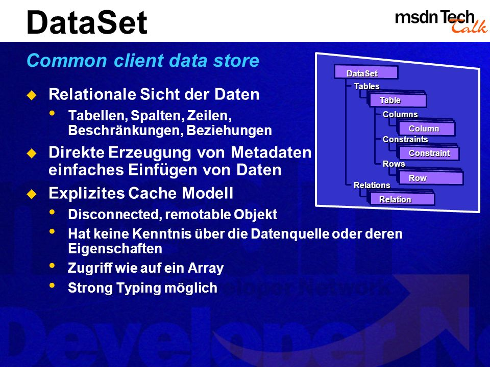 DataSet Common client data store