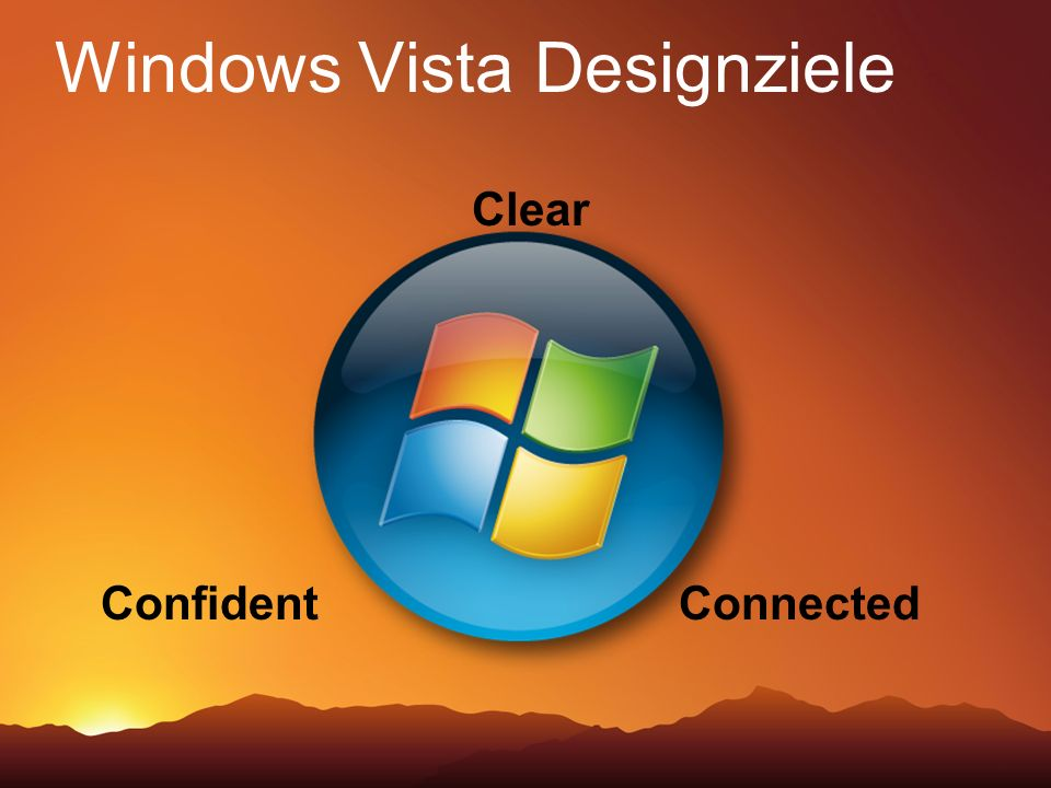 Windows Vista Designziele
