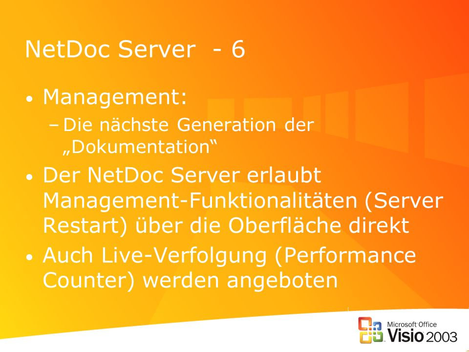 NetDoc Server - 6 Management: