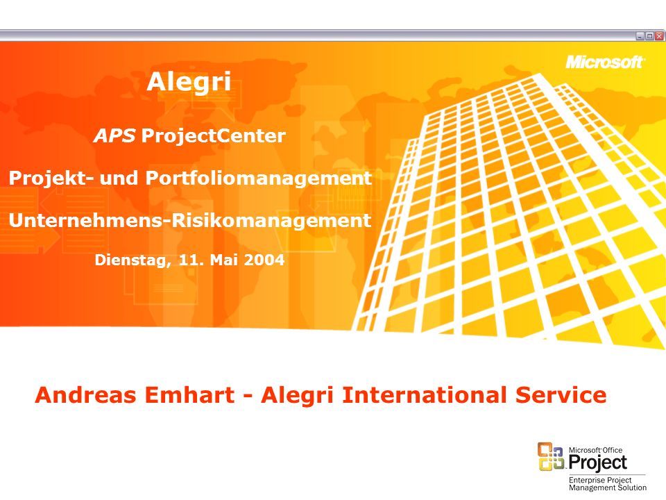 Andreas Emhart - Alegri International Service