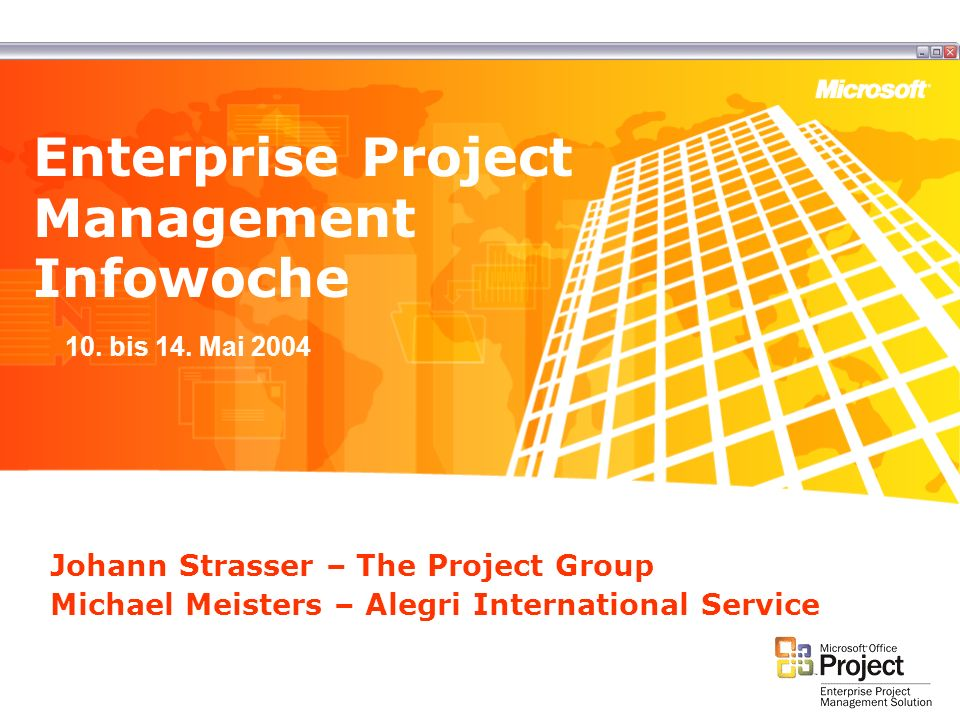 Enterprise Project Management Infowoche