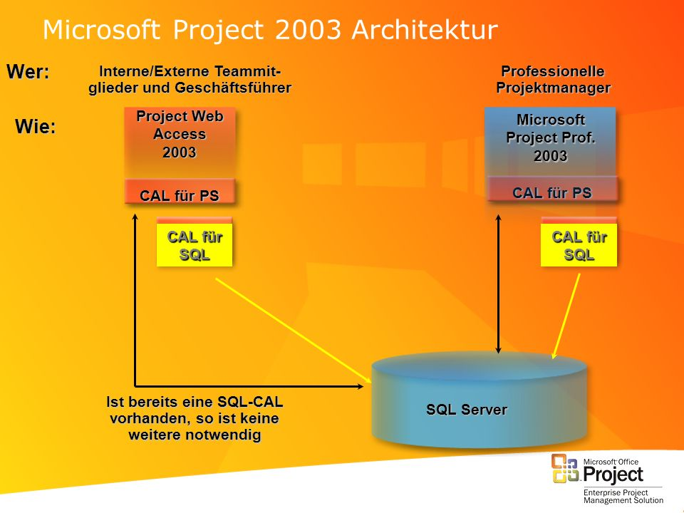 Microsoft Project 2003 Architektur