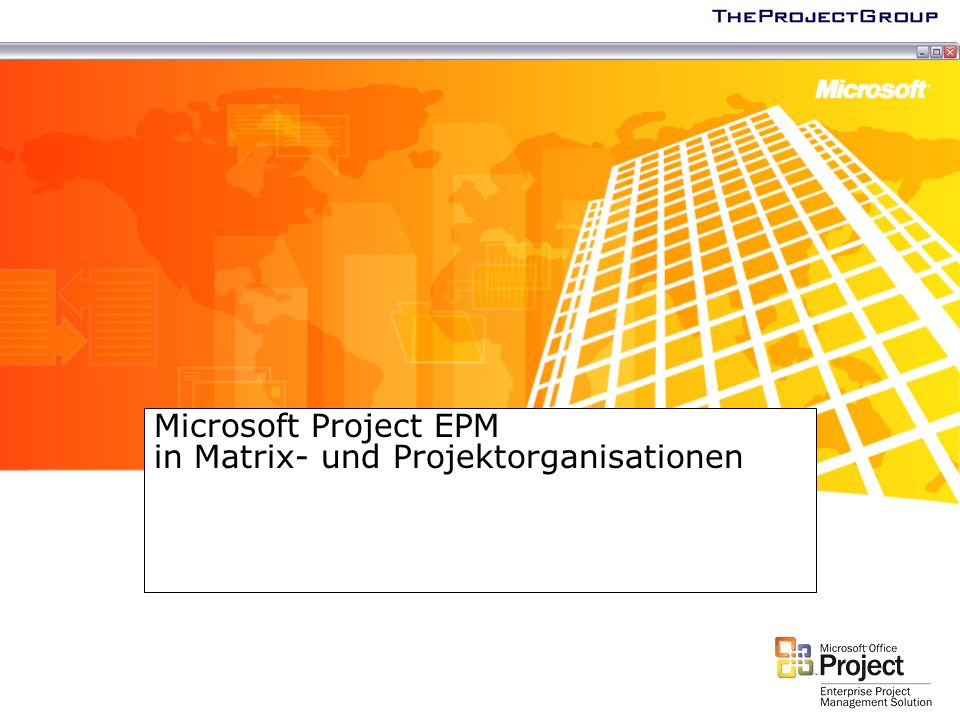 Microsoft Project EPM in Matrix- und Projektorganisationen