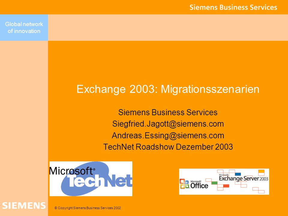 Exchange 2003: Migrationsszenarien