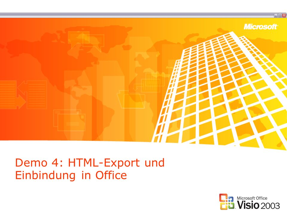 Demo 4: HTML-Export und Einbindung in Office