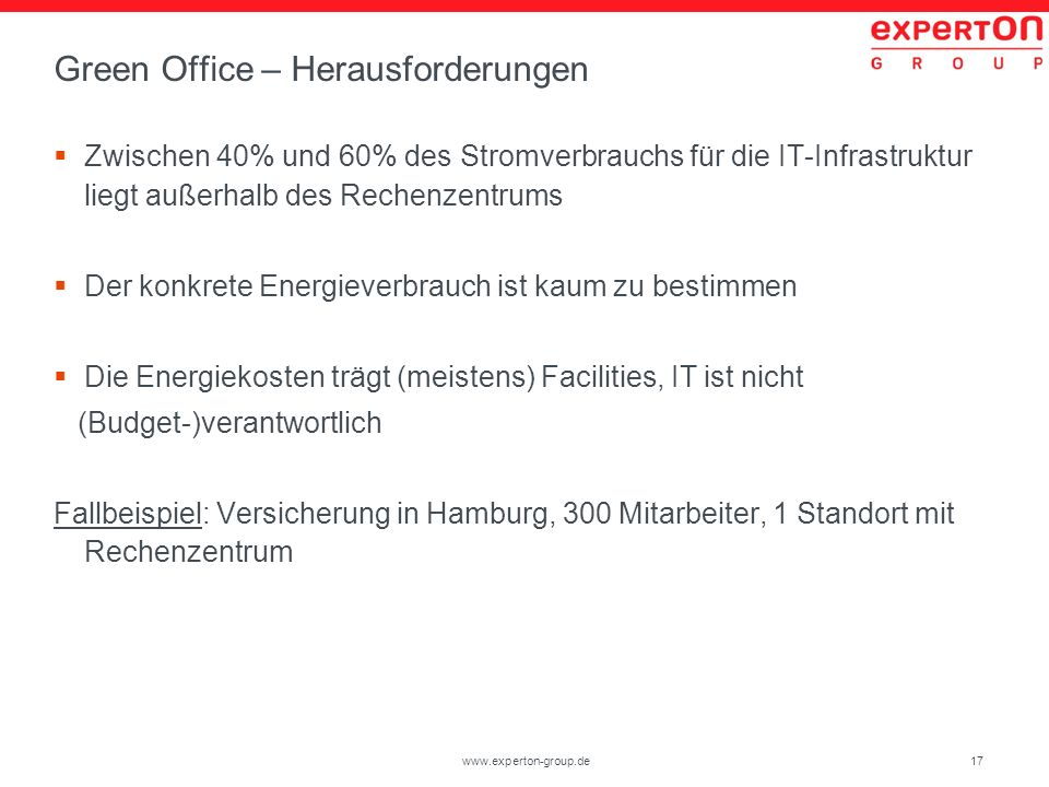 Green Office – Herausforderungen