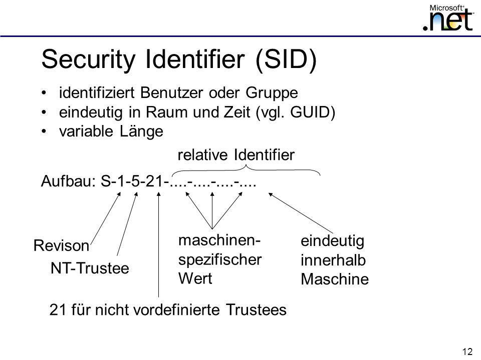 Security Identifier (SID)