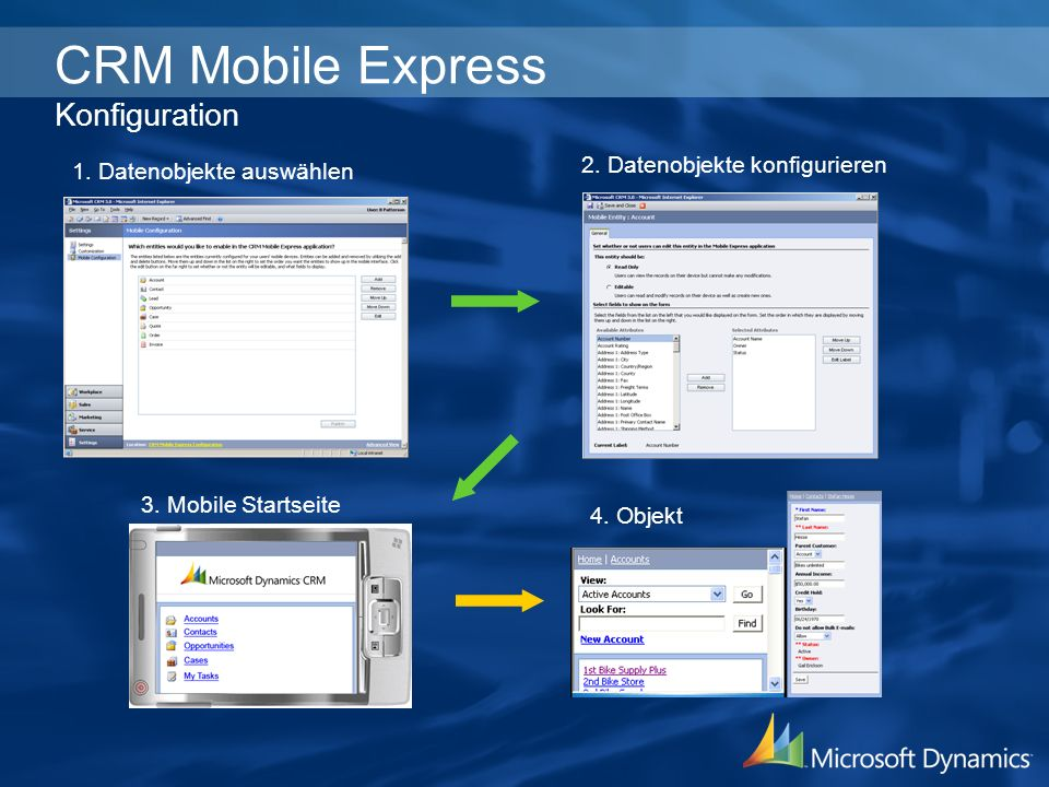 CRM Mobile Express Konfiguration
