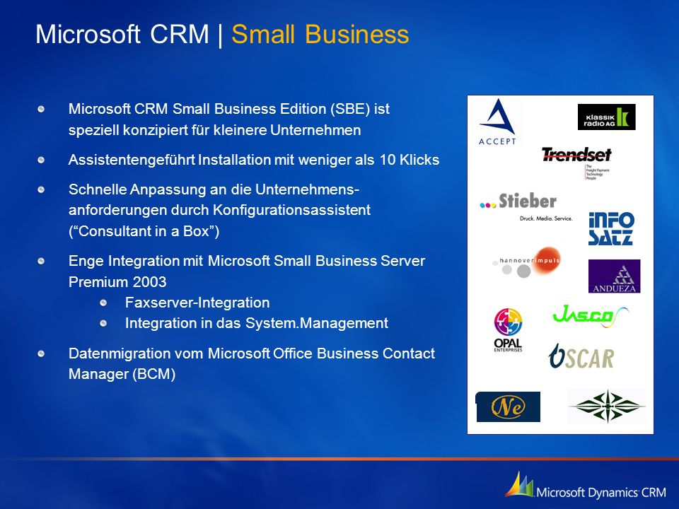 Microsoft CRM | Small Business