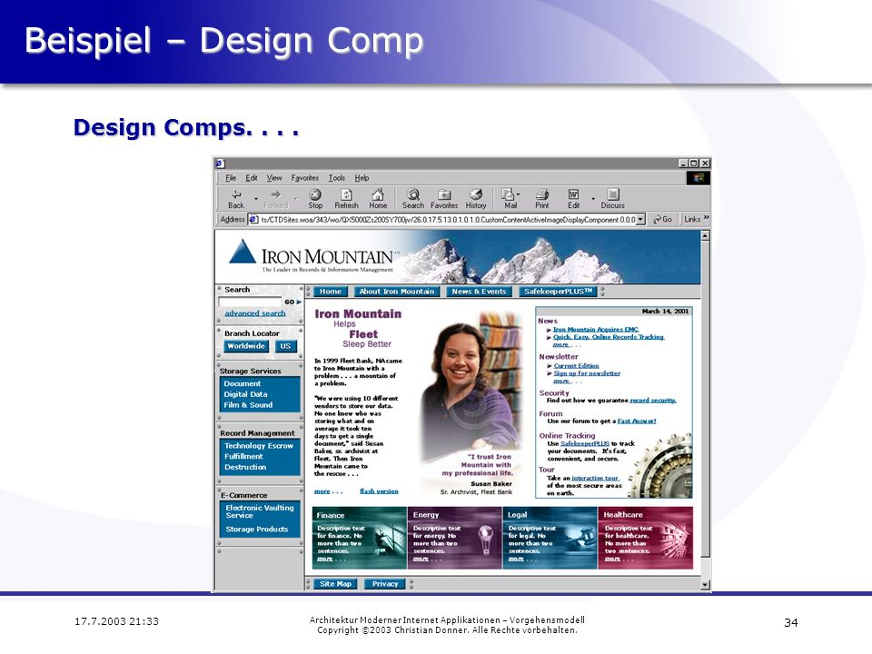 Beispiel – Design Comp Design Comps. . . . 17.7.2003 21:33