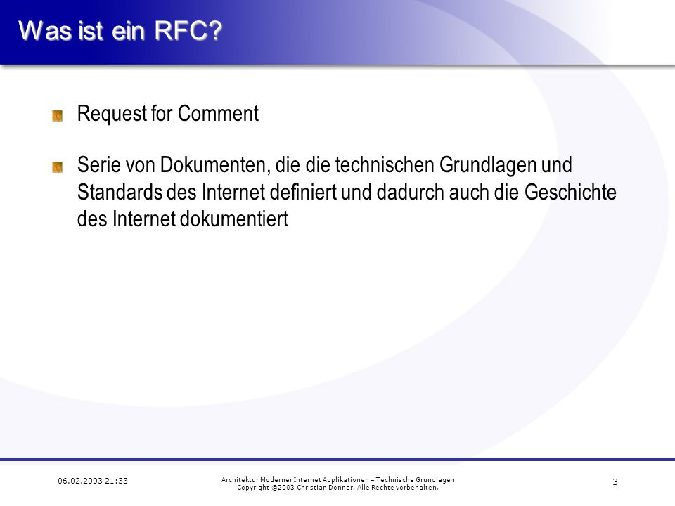 Was ist ein RFC Request for Comment