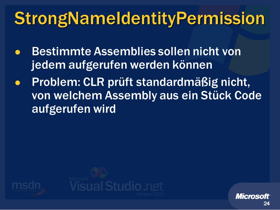 StrongNameIdentityPermission