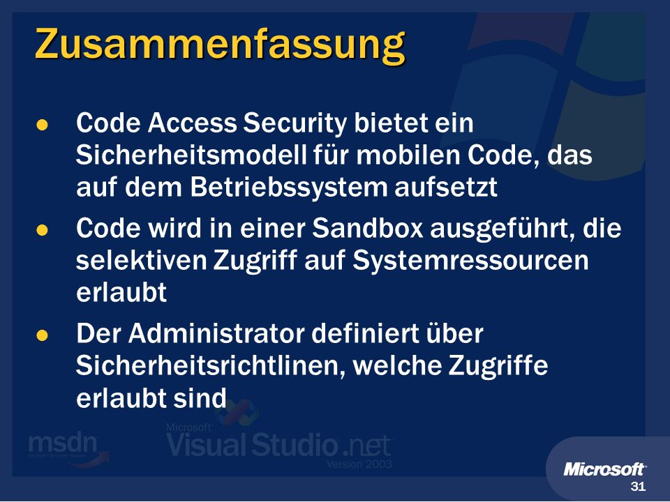 Security.NET - Was darf mein Code