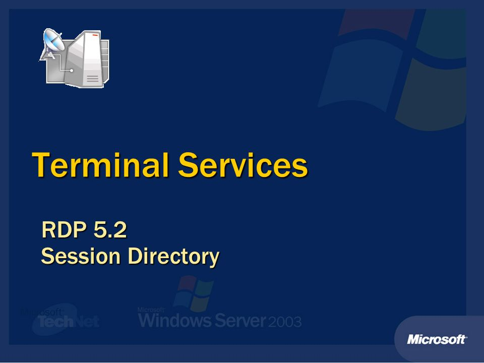 Terminal Services RDP 5.2 Session Directory