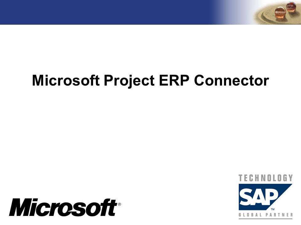 Microsoft Project ERP Connector