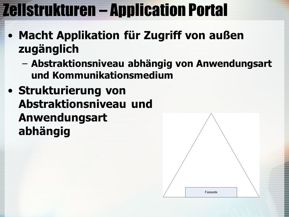 Zellstrukturen – Application Portal