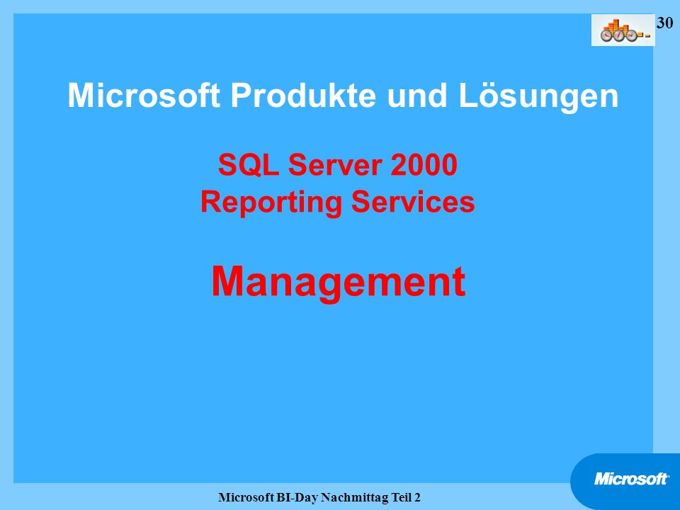 SQL Server 2000 Reporting Services Management