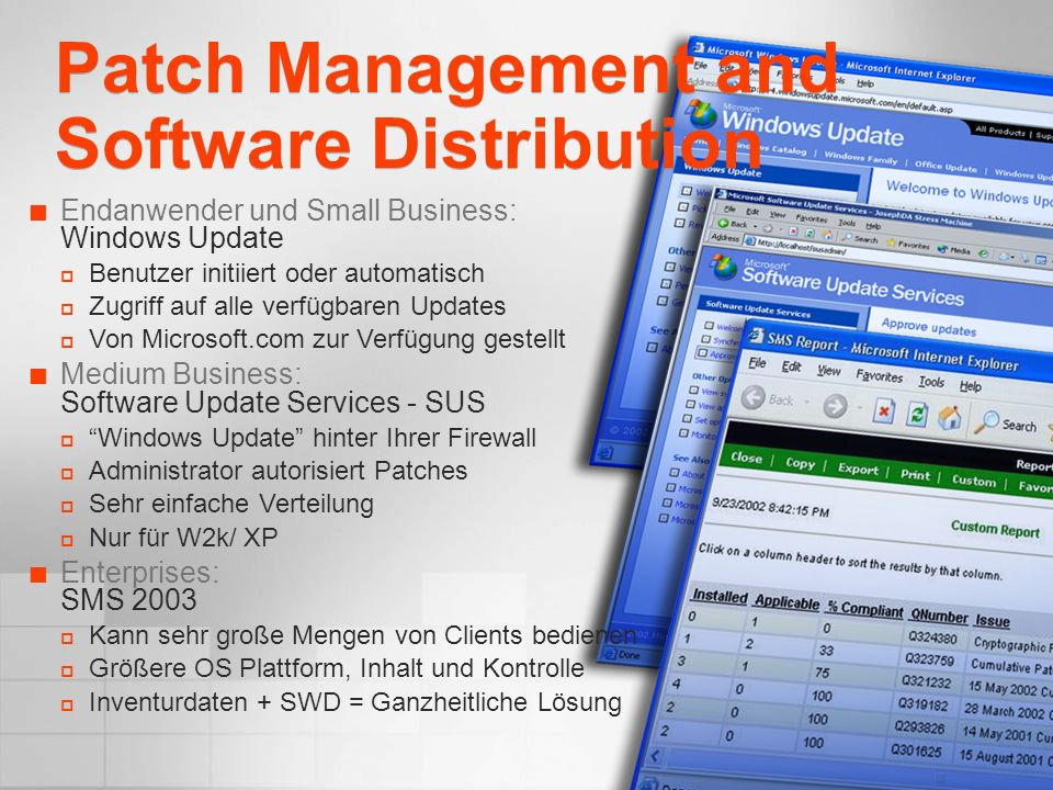Patch Management and Software Distribution