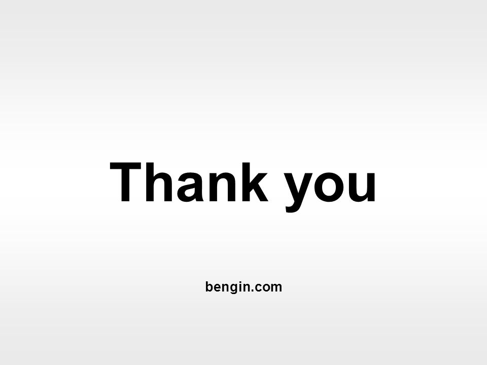 Thank you bengin.com Mapping values © 2002 bengin.com