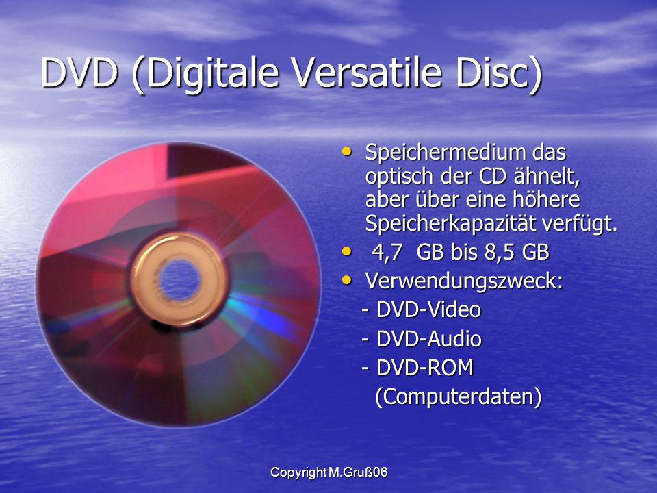 DVD (Digitale Versatile Disc)