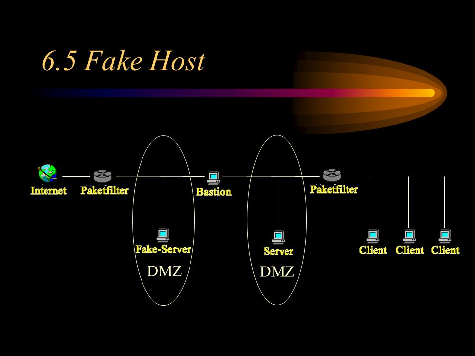 6.5 Fake Host 6.1 DMZ DMZ