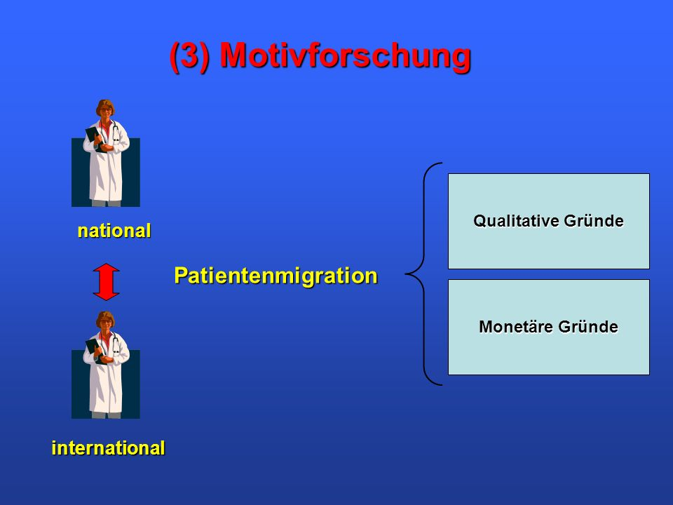 (3) Motivforschung Patientenmigration national international