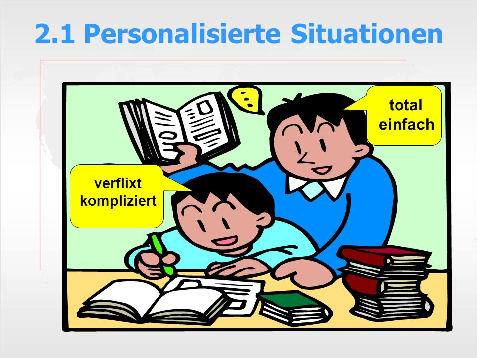 2.1 Personalisierte Situationen